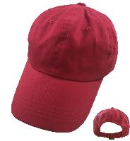 100% Cotton Ball Cap [Red Only]